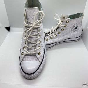 Converse Leather High Top Sneakers